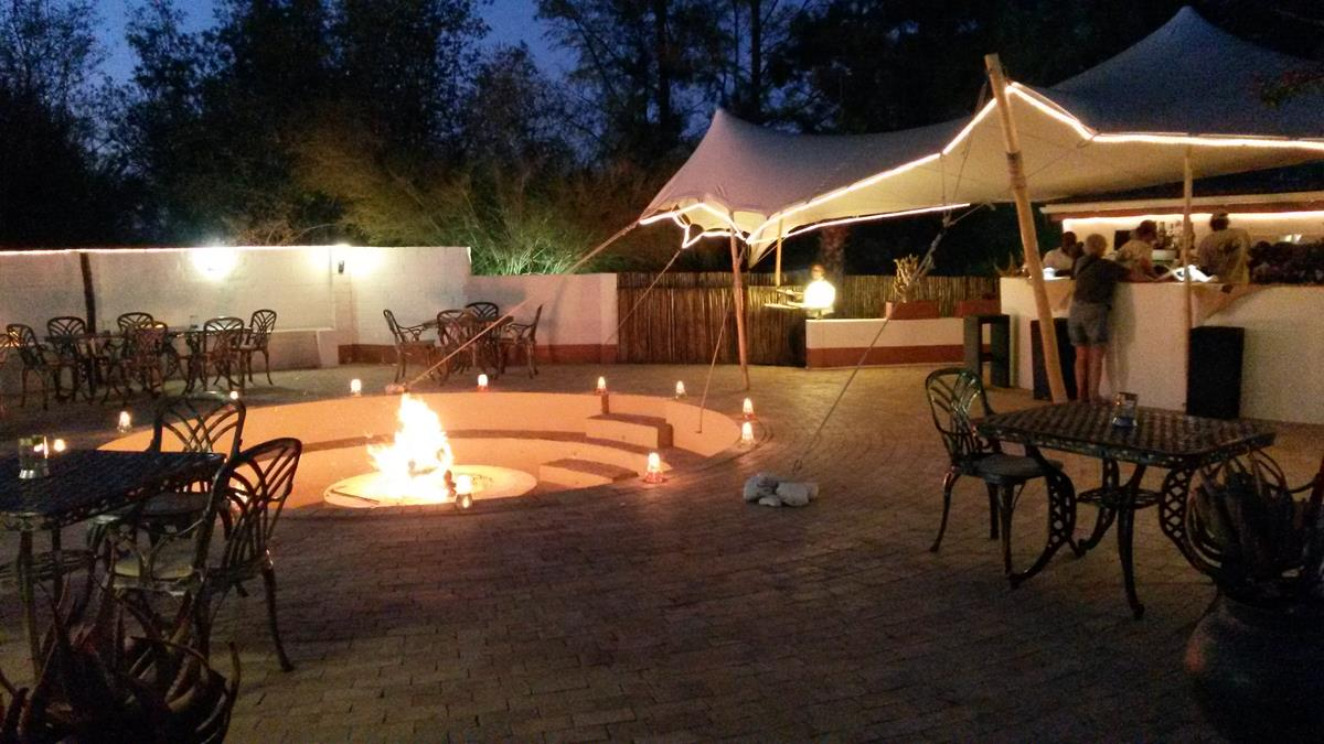 Fire Pit At Night At The Game Reserve