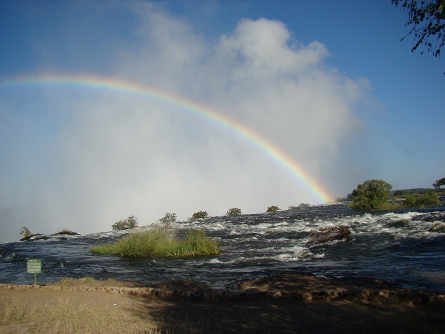 Rainbows Above Victoria Falls