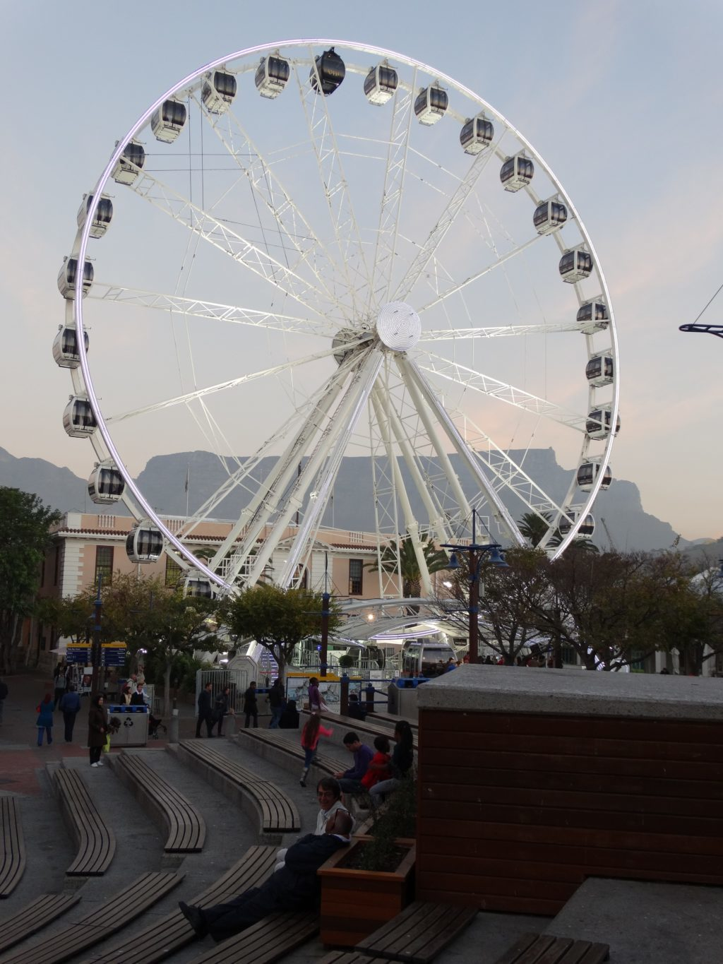 Cape Town Ferris Wheel at the Victoria and Alfred Waterfront in South Africa