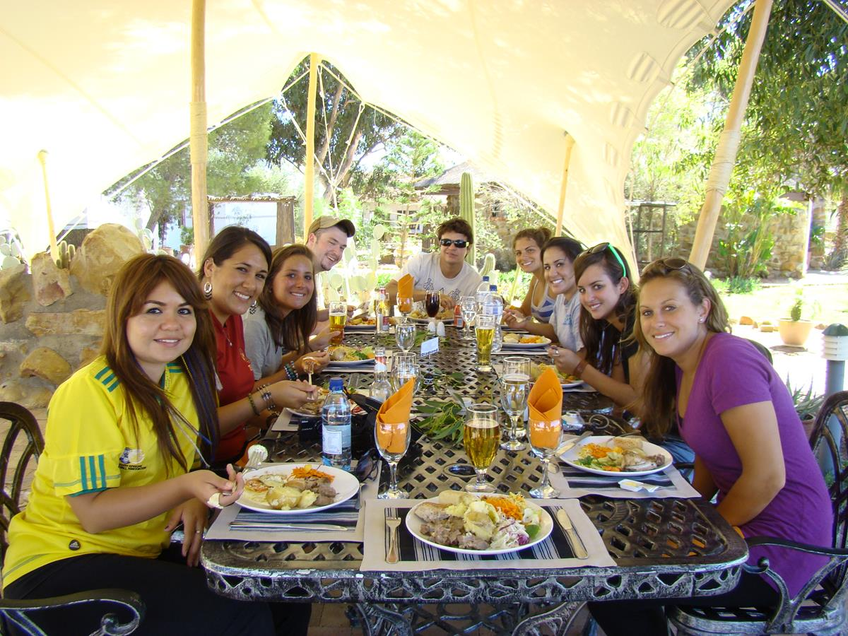 Happy Guests Having Lunch On This Overnight Luxury Safari