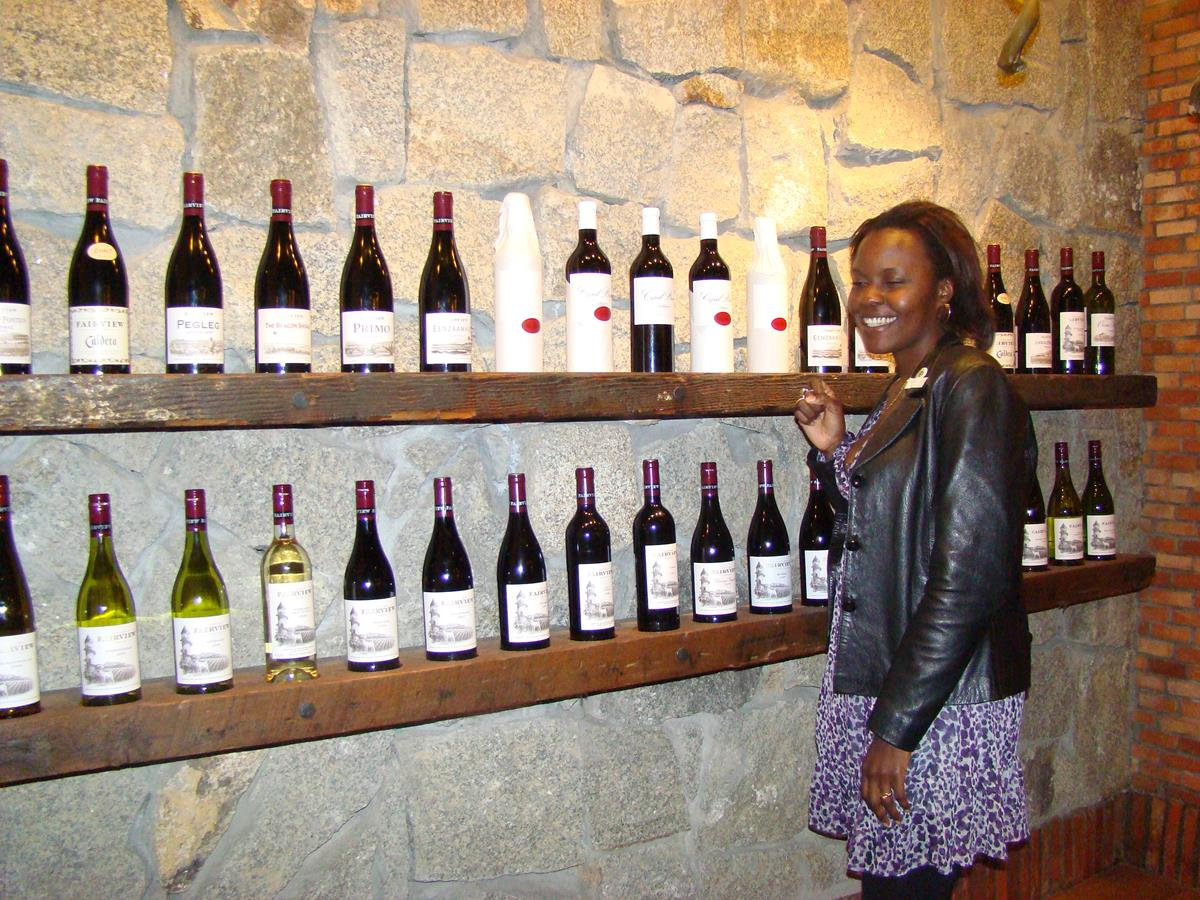 Fairview wines on display