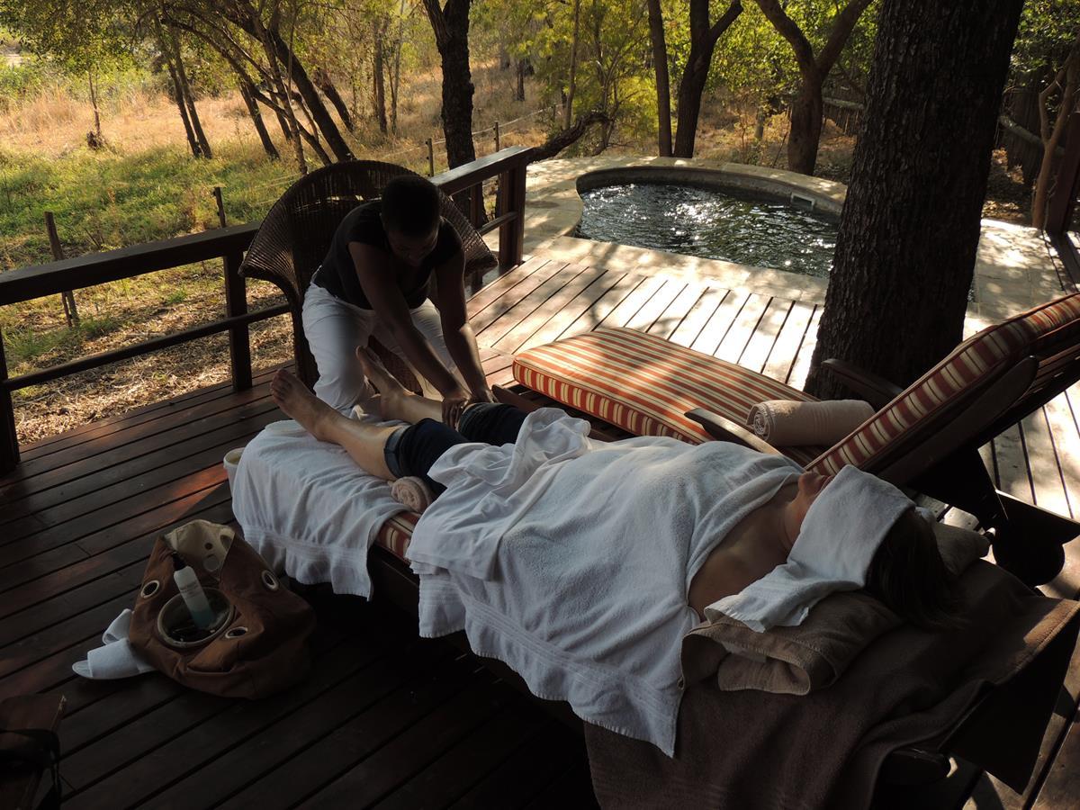 Spa Treatment on safari