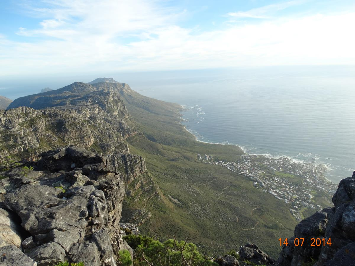 View from Table Mountain over Camps Bay & 12 Apostles