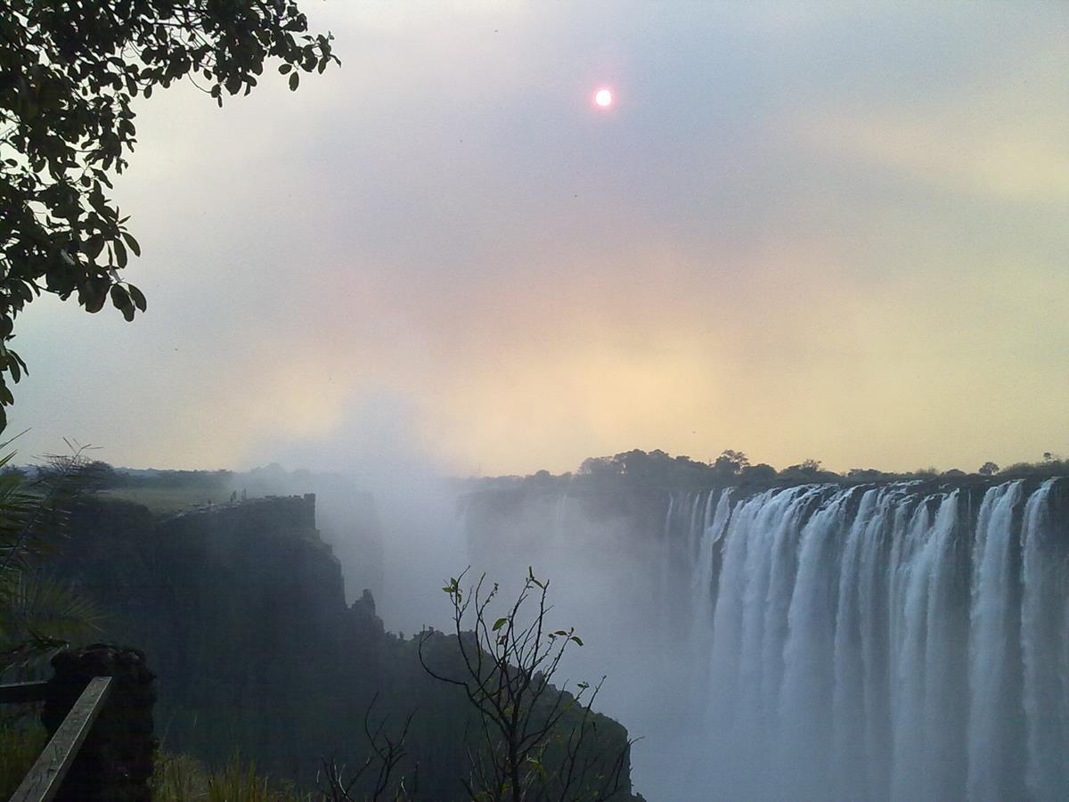 Water Spray over Victoria Falls (Copy)