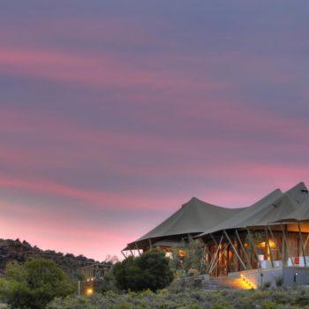 Luxury safari tented accommodation