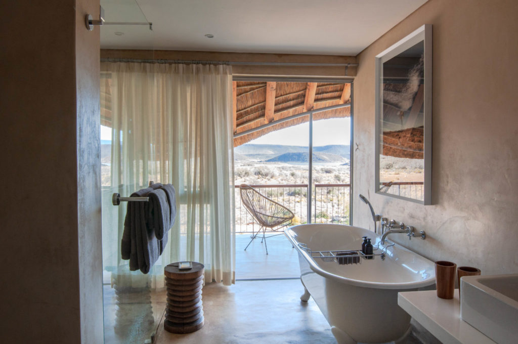 Luxury bathrooms at Gondwana Lodge
