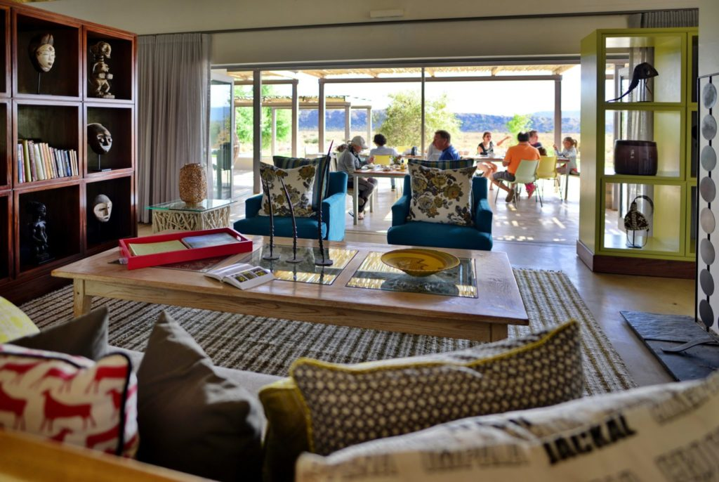 Luxury dining area at Gondwana Family Lodge