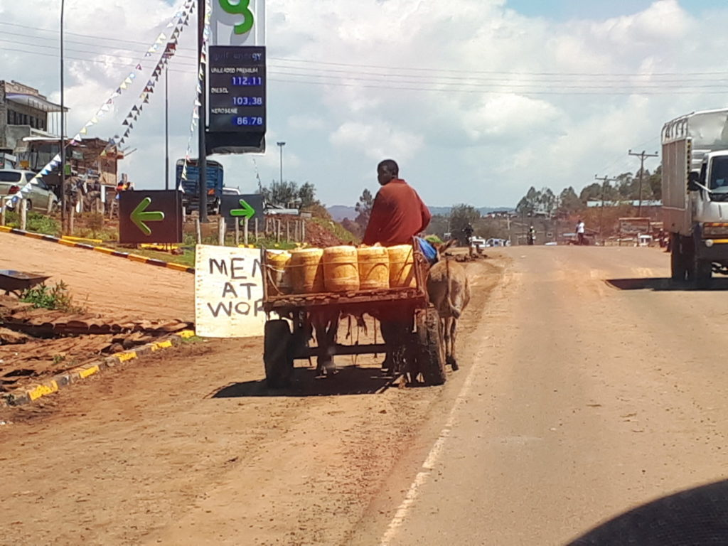 Water delivery in rural Kenya