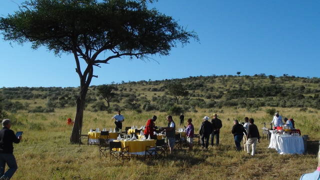 Breakfast on the Masai Mara, Kenya