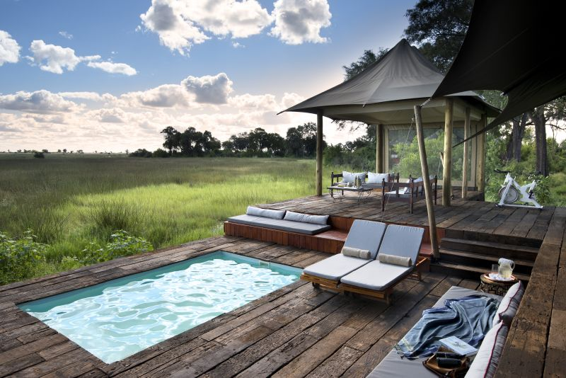 Your private plunge pool at Duba Plains Camp