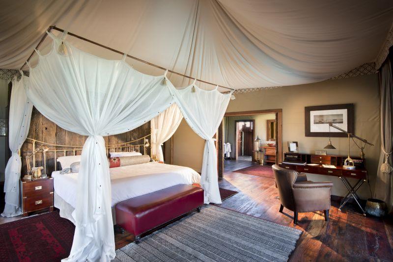 Bedroom interior at Duba Plains