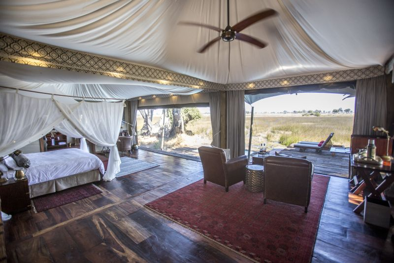 Great Views from your tent at Duba Plains Camp